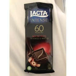 Chocolate Lacta Intense 60%  Cacau Mix de Nuts 85g