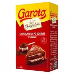 Chocolate em pó solúvel - 50% cacau Garoto 200g