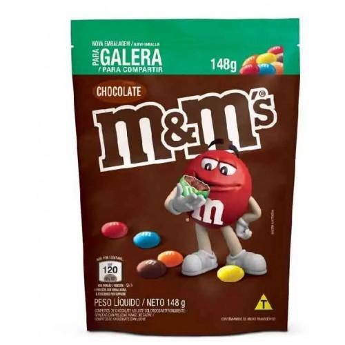 Confeitos de Chocolate Ao Leite  M&M - 148 Gr