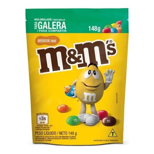 Confeitos de Chocolate Ao Leite Com Amendoim  M&M - 148 Gr