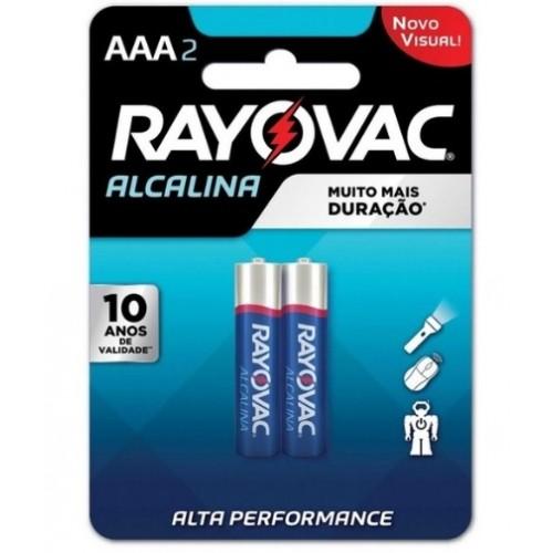 Pilha Rayovac Alcalina AAA2