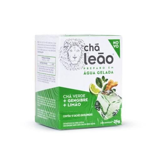 CHA VERDE + GENGIBRE SABOR LIMAO  - MATE LEAO 10x2,5g