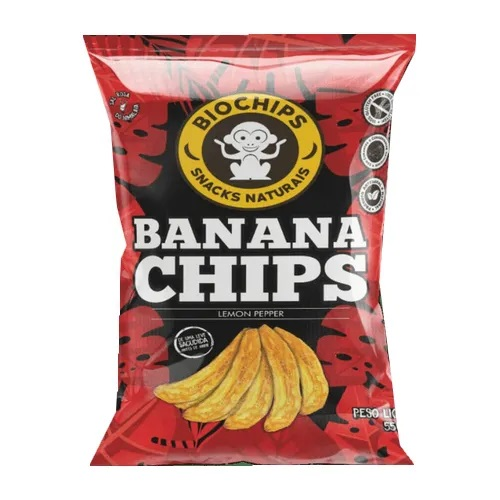 Chips de Banana Salgada  Sabor Lemon Pepper- Biochips - 55g