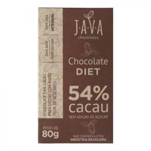 Chocolate Java  Diet 54% Cacau  80 Gr