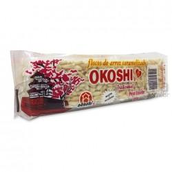 Flocos de Arroz Caramelizado Okoshi Tradicicona l00g