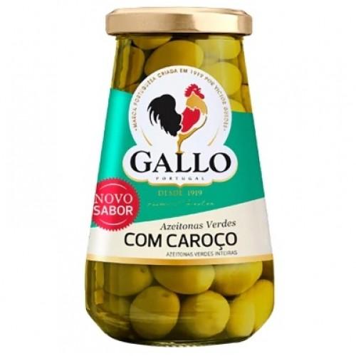 Azeitonas Verdes Com Caroço Gallo 183g