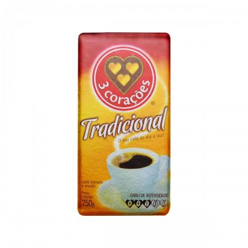 Café Torrado e Moído 3 Corações 250 g