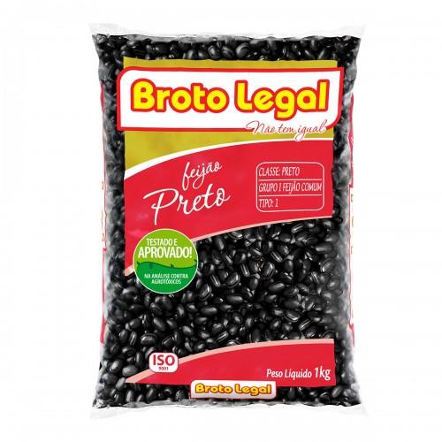 FEIJÃO PRETO BROTO LEGAL 1 KG