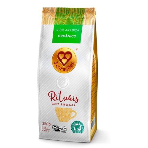 Café Especial 100% Arábica Orgânico 3 Corações 250 g