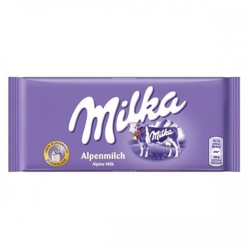 Chocolate Milka Alpine Milk- 100 Gr