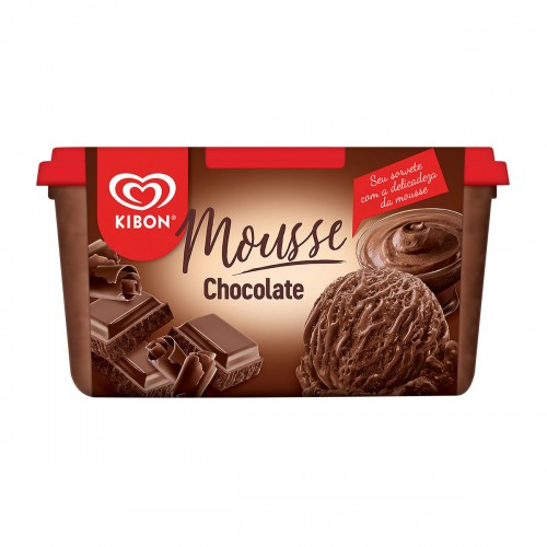 Sorvete Mousse de Chocolate Kibon - 1,3 l