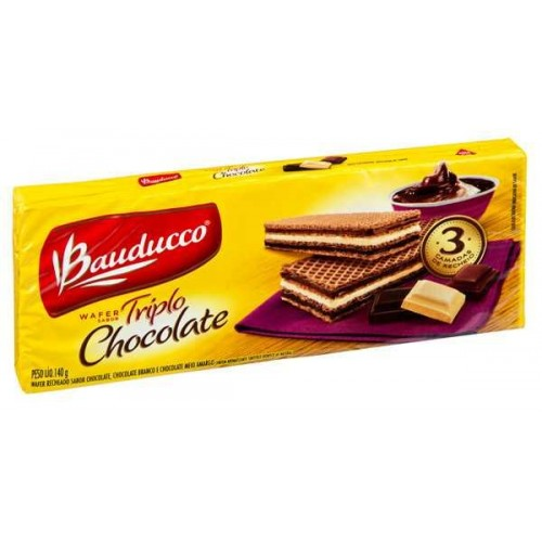 WAFER TRIPLO CHOCOLATE BAUDUCCO 140 G