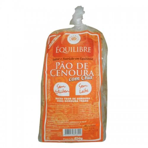PAO DE CENOURA COM CHIA EQUILIBRE SEM GLÚTEN 400 G