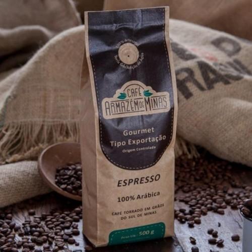 CAFE ARMAZENS DE MINAS GOURMET ESPRESSO GRAOS 500 G