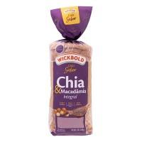 Pão de Forma Integral Chia & Macadâmia - WickBold 400g