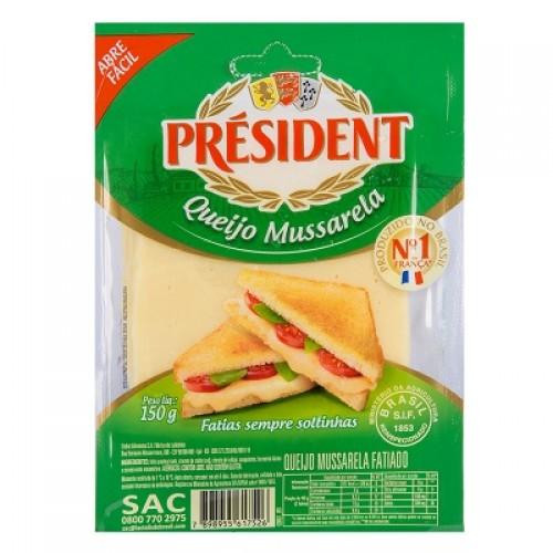 Queijo Mussarela Fatiado President Fração - 150 g