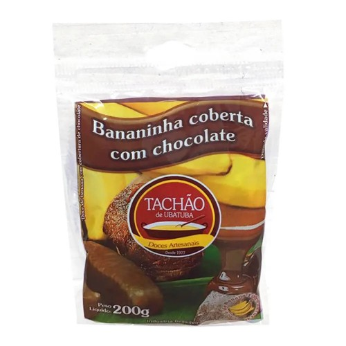 Bananinha Coberta de chocolate Tachão 200g