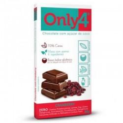 Chocolate Only 4  70% Cacau  - Cranberry 80 Gr